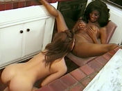 A black babe with big breasts and her girlfriend! porn video