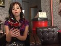 Simony Diamond gets a kick out from the shoe salesman