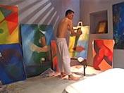 Un peintre gay lui ravage l'anus avec son pinceau