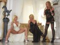 Three blondes get shagged a maid