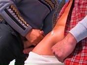 Rozame el culo en la moto de agua