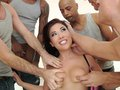 London Keyes gets screwed the asshole by 5 dicks