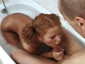 HPG shags an innocent blonde in the shower!  porn videos