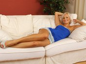 Porno Movies Loana naked on her couch