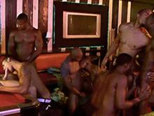 8 grosses teubs black lui font sa fête