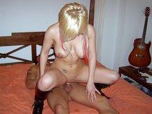 Culbute d'une blondinette à gros nichons