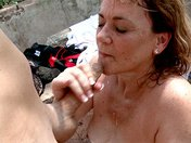 Old slut screwed in the woods