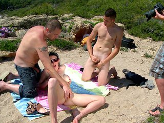 The beach of the dick eager sluts
