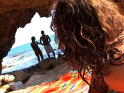sexe 1 salope, 1 couple sur la plage, plein de possibilités