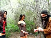 Scopata a tre nel bosco