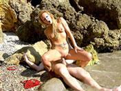 Sodomie sauvage sur une plage
