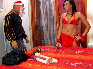 Santa is ass pounding Mrs. Claus