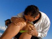 Kristal s'embroche une teub de plage