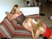Raquel et Judith deux blondasses en mode lesbos