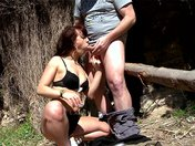 Nora loves to get fucked at the entrance of a forest