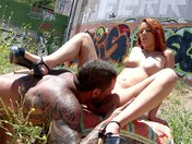 Dixie, the redhead that gets fucked in a vacant lot