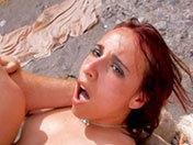 Tania gets buggered on a beach