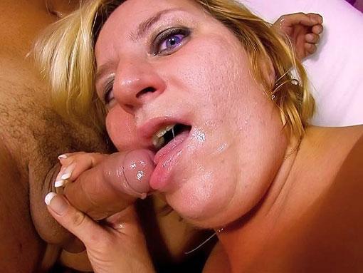 Une grosse blonde se fait enculer sous vos yeux