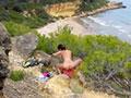 Charlotte se fait niquer au sommet d'une falaise