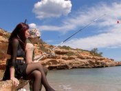Milf slovacca inculata da un pescatore