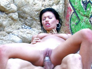 Miss Justine gets banged on an Iberian beach