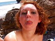 Double pénétration sur une plage pour Léane