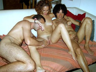 Anna the beginner gets fucked during a threesome
