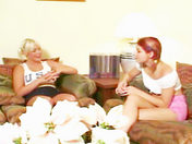 1 Redheaded Babe + 1 Blonde Babe + 1 Dildo = plenty of combinations!  xxx video
