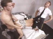 Fucked by 2 aggressive warders in the prison cell! adult video