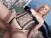 Two older wenches in an orgy porn videos