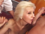 Nasty old wench gets gang banged porn video
