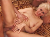 Nasty old wench gets gang banged porn videos