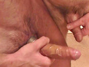 Hot bath & steel cockring!! gay porn video