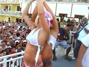 Hot babes doing a striptease in Miami!