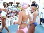 Drunk sex bombs doing a striptease! xxx video
