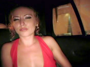 Drunken Britney flashes in a taxi!  sex video