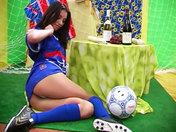 Slutty football fan showing off!!! porn videos