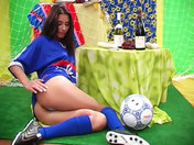 Slutty football fan showing off!!! porn videos