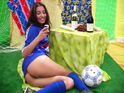 Slutty football fan showing off!!! adult video