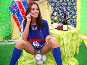 Slutty football fan showing off!!! porn video