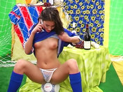 Slutty football fan showing off!!! xxx videos