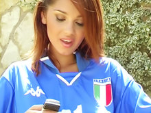 Supportrice Italienne en solo !!!