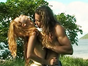 Passionate couple alone on a desert island!  porn videos