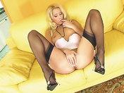 Blonde in lingerie exploring her anus!!! xxx videos