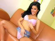 A beautiful brunette wanks herself off, dildoes herself and pees to turn you on!!! xxx video