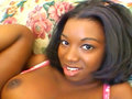 Audrey James, a young Black woman, screwed and covered in cum on the Sofa