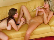 Lesbian housewives desperately need sex! porn videos