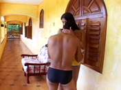Gorgeous tranny Clarissa Ribeiro rimmed by the swim trainer porn videos