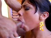 Gorgeous tranny Clarissa Ribeiro rimmed by the swim trainer porn video