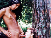 Transsexual Surprise Party in the park sex video